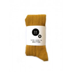 Krutter - Yellow ribbed tights